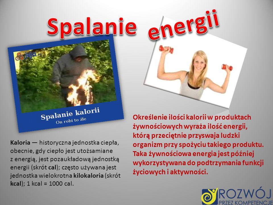– sposób spalania energii dostarczanej organizmowi jazda na rowerze (10 km/godz.) - 240 kcal.