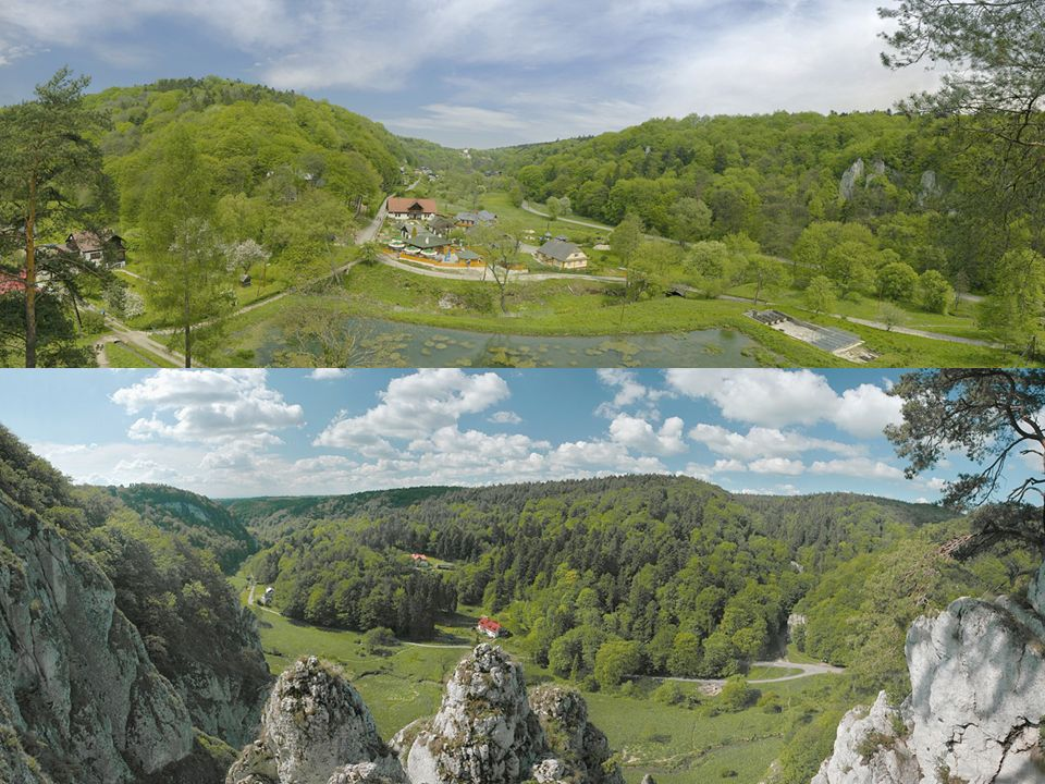 *Ruiny średniowiecznego zamku w Ojcowie Zamek w Ojcowie – położony jest w centrum Ojcowa, był zamkiem warownym wzniesionym przez Kazimierza Wielkiego w II połowie XIV wieku.