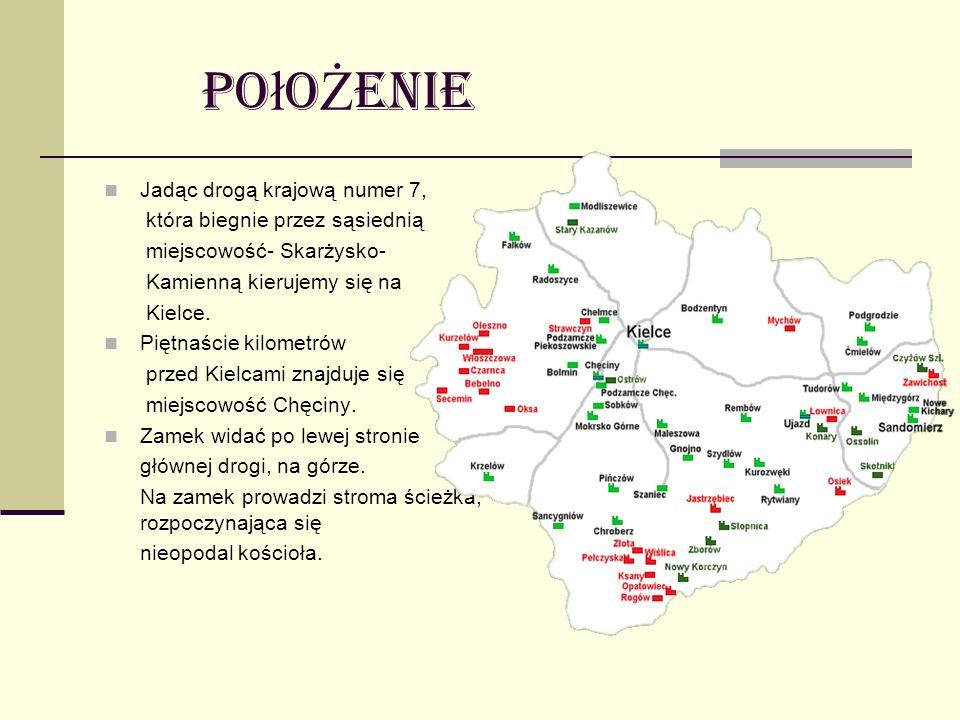 Po ł o Ż enie Jadąc drogą krajową numer 7, która biegnie przez sąsiednią miejscowość- Skarżysko- Kamienną kierujemy się na Kielce. Piętnaście kilometr