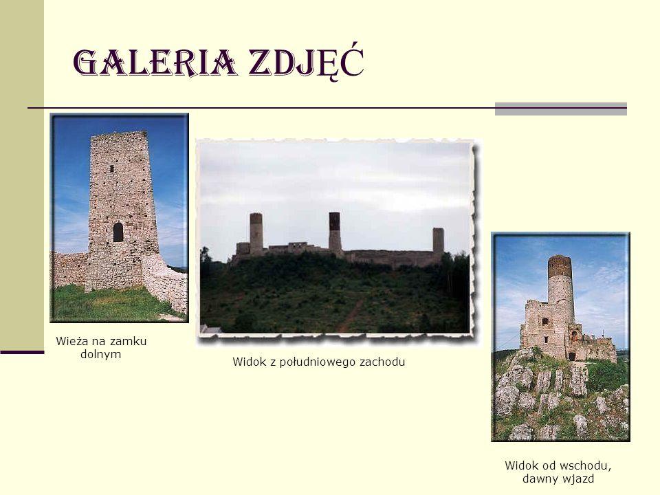 Galeria zdj ĘĆ Widok od wschodu, dawny wjazd Wieża na zamku dolnym Widok z południowego zachodu