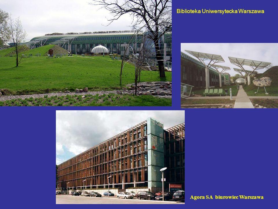 Biblioteka Uniwersytecka Warszawa Agora SA biurowiec Warszawa