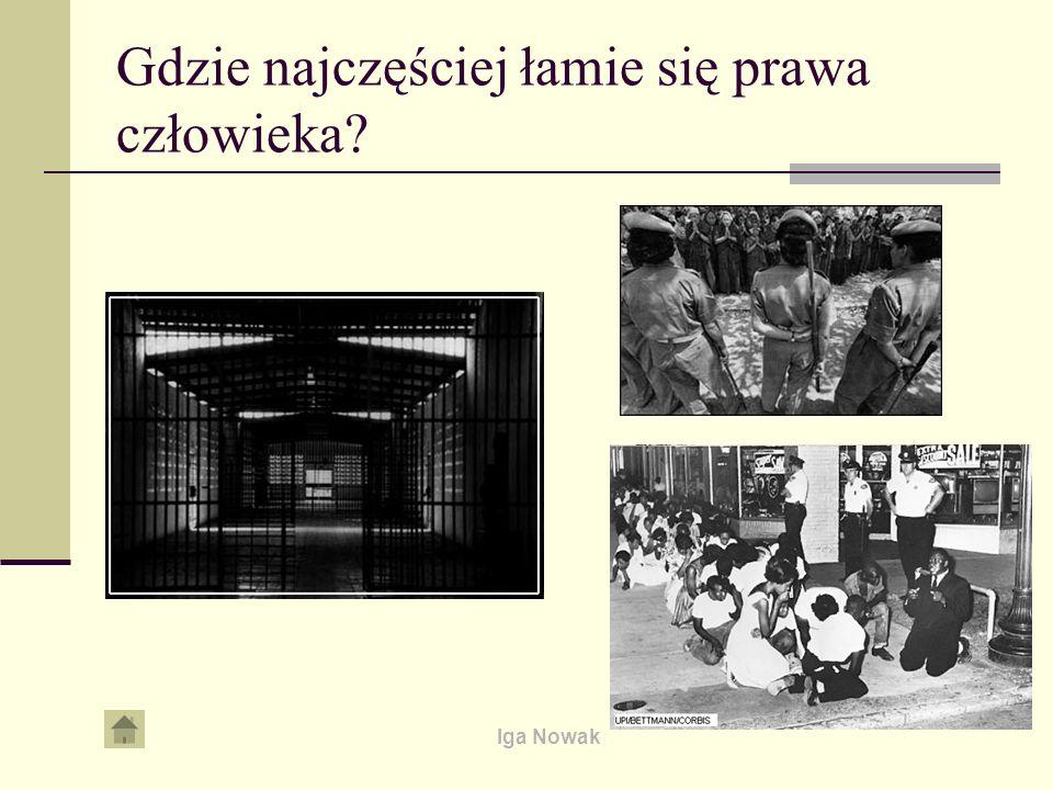 Iga Nowak Organizacje Pozarządowe w obronie praw człowieka Organizacje pozarządowe są niezależne.