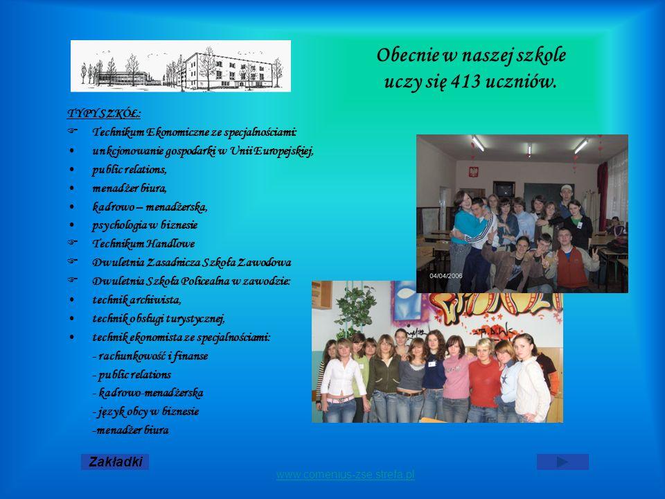 Obecnie w naszej szkole uczy się 413 uczniów.