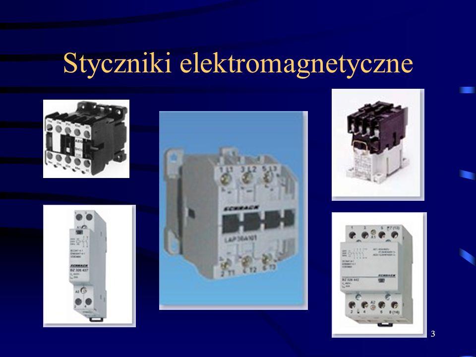 Ogólne informacje o zastosowaniu styczników Budowa styczników elektromagnetycznych Dobór styczników. Parametry techniczne Montaż styczników Montaż mec
