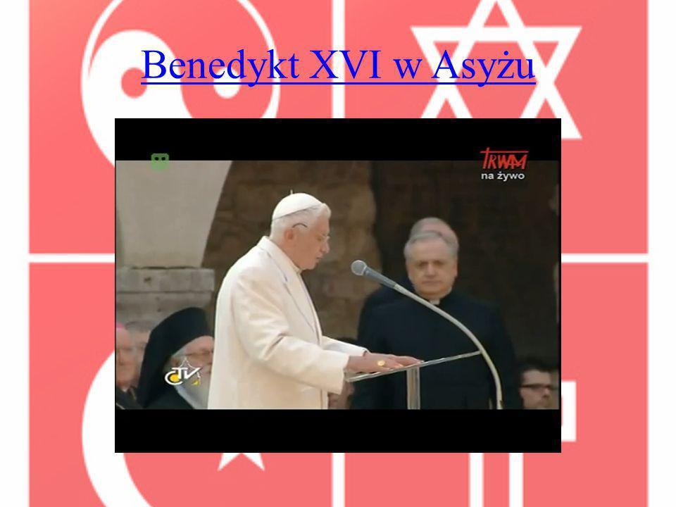 Benedykt XVI w Asyżu