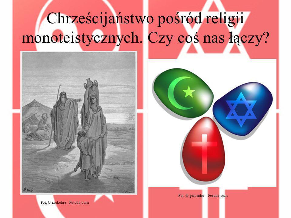 Chrześcijaństwo pośród religii monoteistycznych.Czy coś nas łączy.