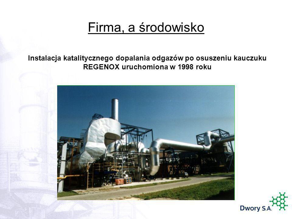 Firma, a środowisko Instalacja katalitycznego dopalania odgazów po osuszeniu kauczuku REGENOX uruchomiona w 1998 roku