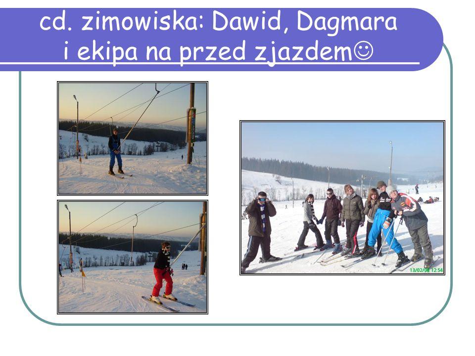 cd. zimowiska: Dawid, Dagmara i ekipa na przed zjazdem