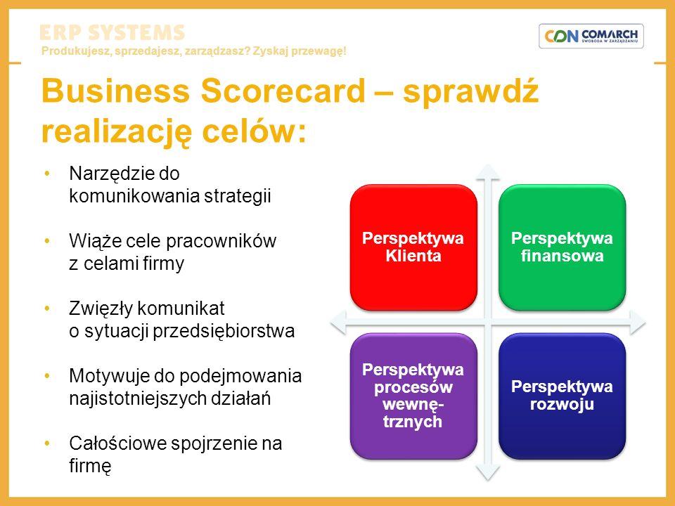 Produkujesz, sprzedajesz, zarządzasz? Zyskaj przewagę! Business Scorecard – sprawdź realizację celów: Narzędzie do komunikowania strategii Wiąże cele