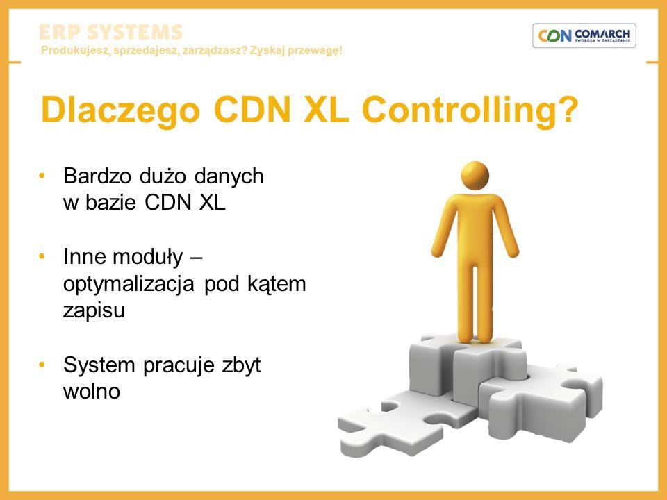 Produkujesz, sprzedajesz, zarządzasz? Zyskaj przewagę! Dlaczego CDN XL Controlling? Bardzo dużo danych w bazie CDN XL Inne moduły – optymalizacja pod