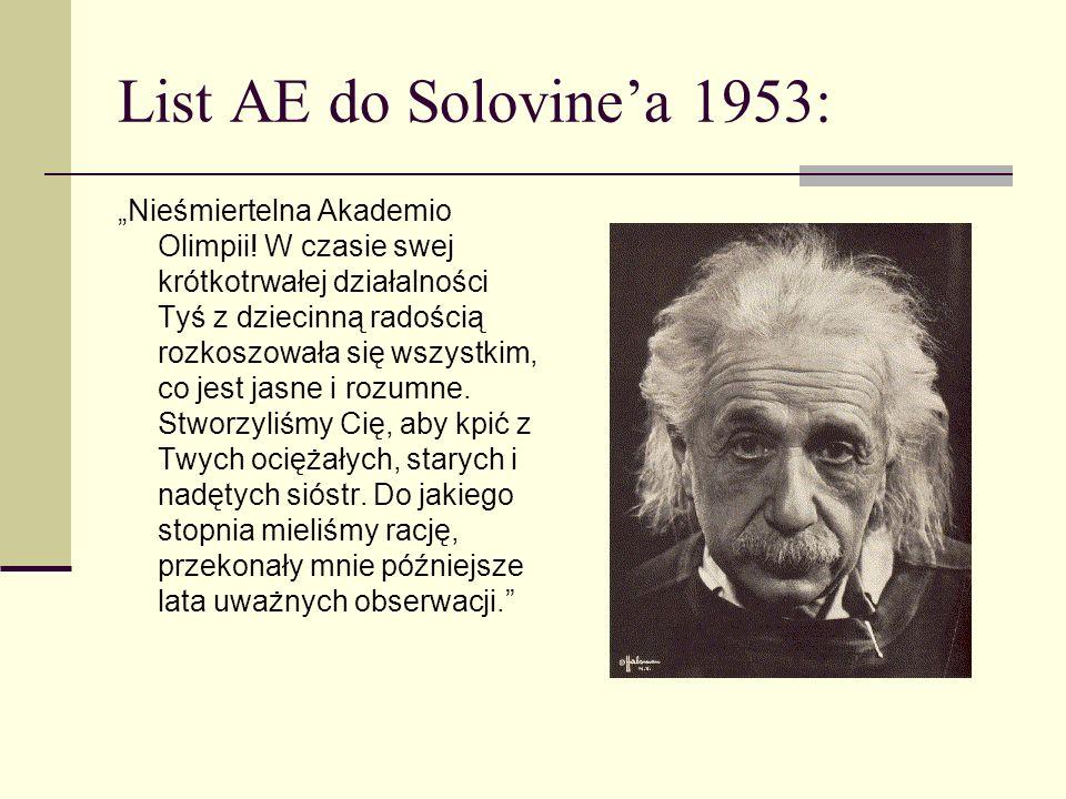 1905 - Cudowny rok Alberta Einsteina 26-letni urzędnik Biura Patentowego w Bernie publikuje w Annalen der Physik serię rewolucyjnych prac z fizyki Światło ma naturę kwantową (praca nagrodzona w 1922 r.