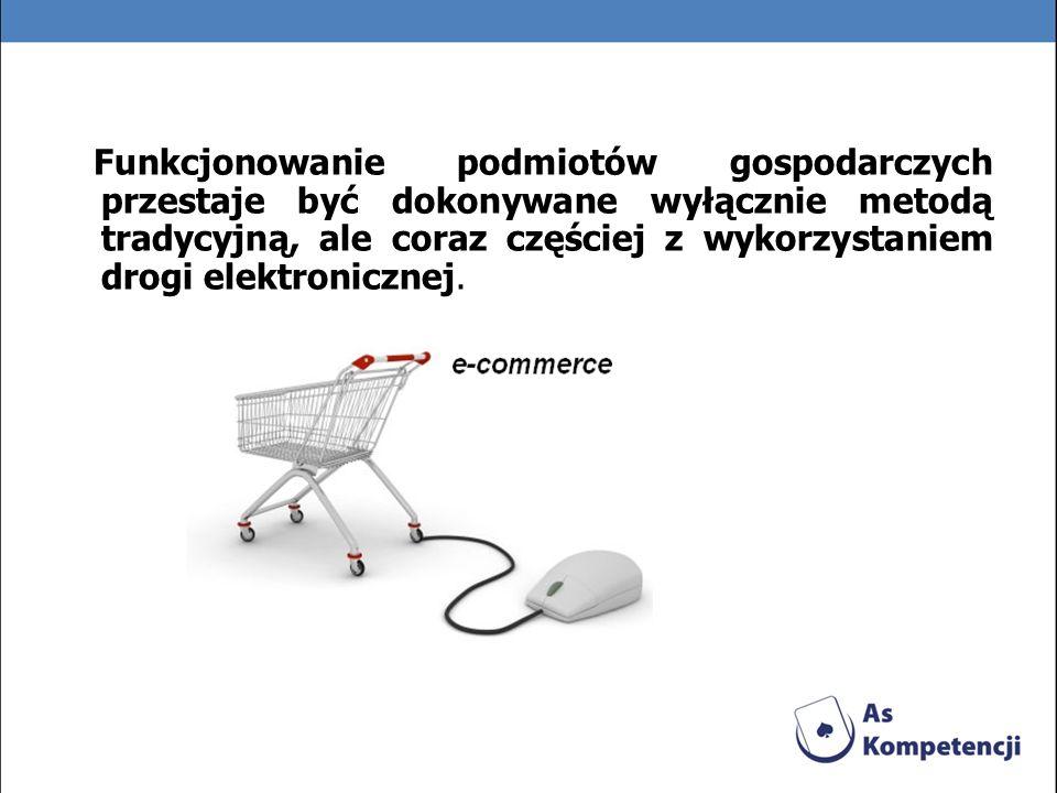 Definicje e-biznesu Synonim terminów e-commerce i e-trade,[1][1] pojęcie szersze od e-commerce.[2][2] [ 1] [ 1] Por.