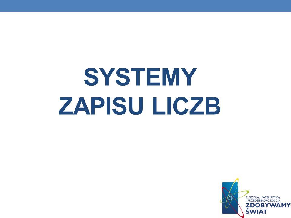 SYSTEMY ZAPISU LICZB
