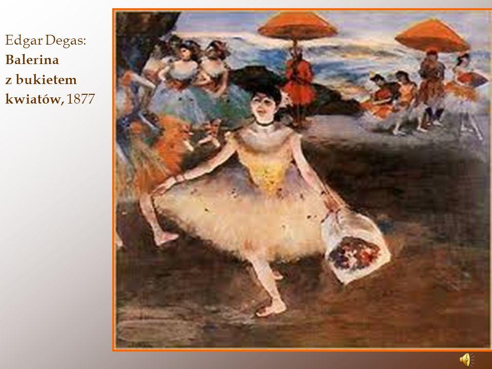 Edgar Degas: Balerina z bukietem kwiatów, 1877