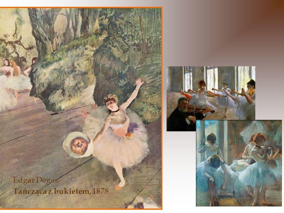 Lekkimi krokami, prawie uniesiona w powietrzu, tancerka zbliża się do brzegu sceny.