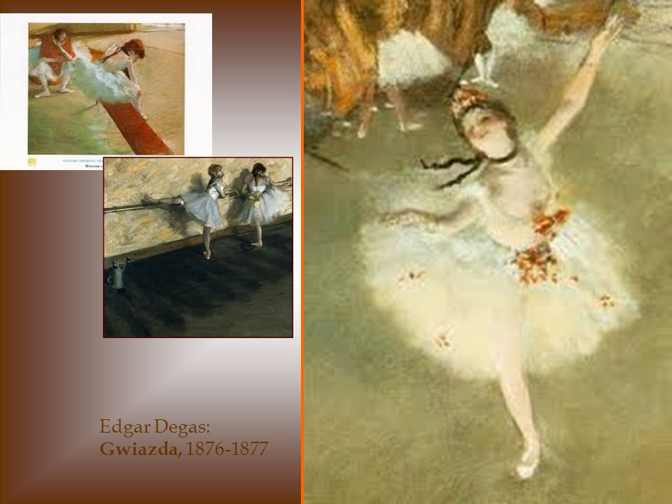 Edgar Degas - Tancerki Malarz świetnie operuje światłem.