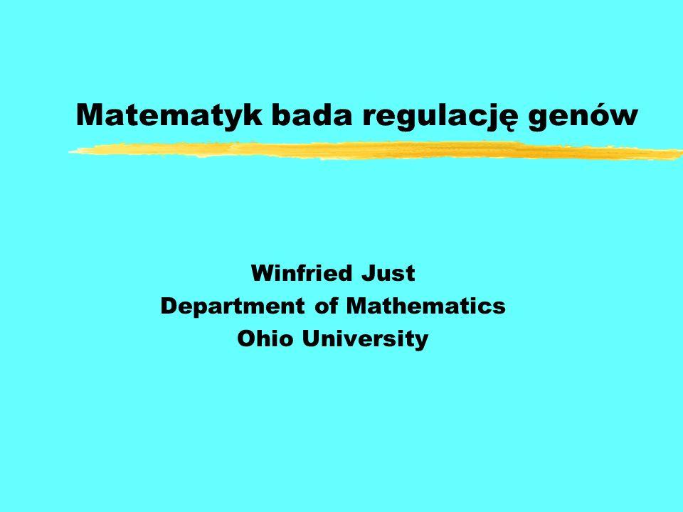 Matematyk bada regulację genów Winfried Just Department of Mathematics Ohio University
