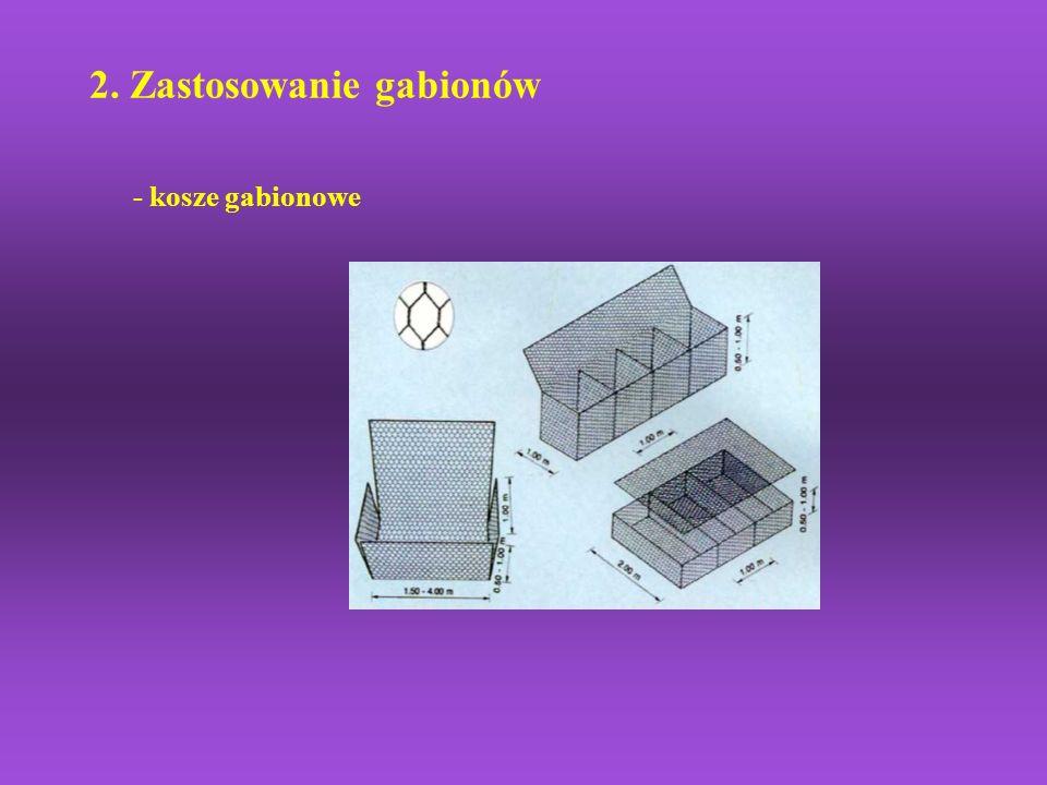 2. Zastosowanie gabionów - kosze gabionowe