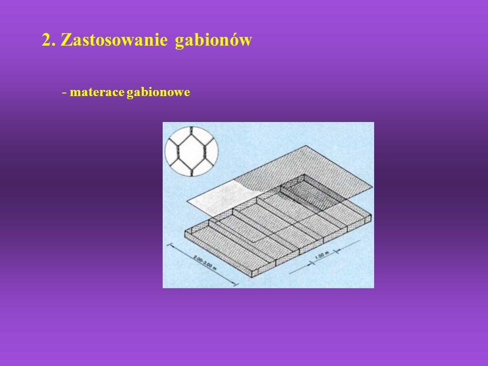 2. Zastosowanie gabionów - materace gabionowe