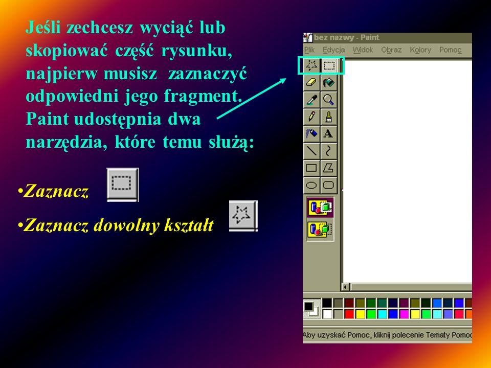 Chcąc w edytorze Paint wpisać tekst wykonaj następujące czynności: 1.W przyborniku kliknij ten przycisk 2.Aby utworzyć ramkę tekstową, przeciągnij wsk