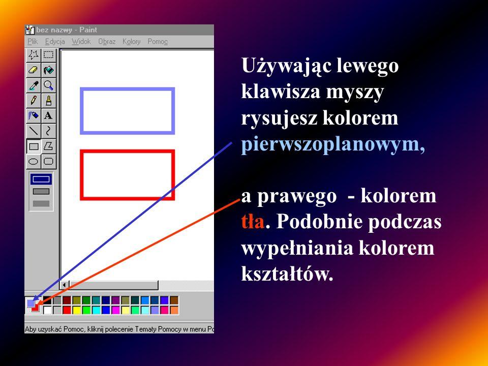 Pole koloru to obszar, który przedstawia dostępne kolory. Można je wykorzystywać do rysowania i wypełniania kształtów. Aby wybrać kolor pierwszoplanow