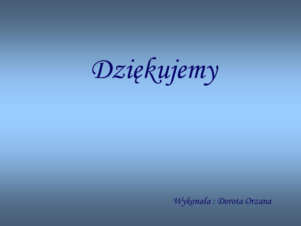 Dziękujemy Wykonała : Dorota Orzana
