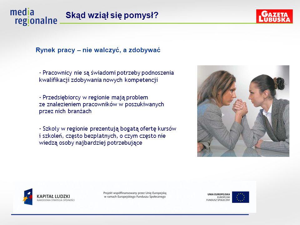 - Pracownicy nie są świadomi potrzeby podnoszenia kwalifikacji zdobywania nowych kompetencji - Przedsiębiorcy w regionie mają problem ze znalezieniem
