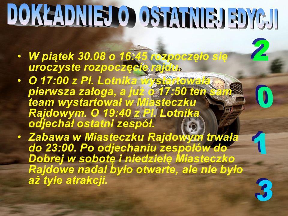 W sobotę 31.08 rano auta udały się do Gminy Dobra, tam do wieczora zmagają się na OS- ach, wieczorem wracają do Szczecina gdzie nocują załogi.