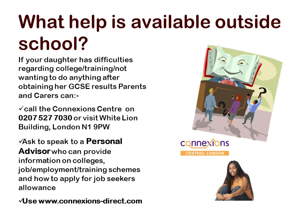 What help is available outside school.
