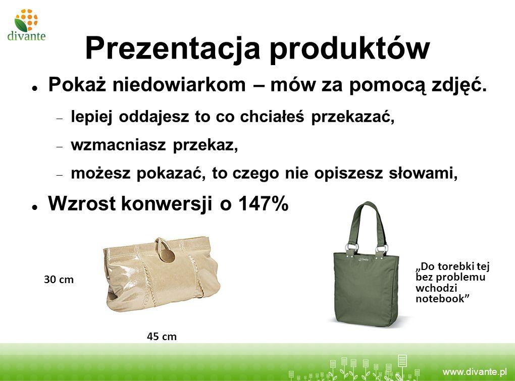 www.divante.pl Pokaż niedowiarkom – mów za pomocą zdjęć. lepiej oddajesz to co chciałeś przekazać, wzmacniasz przekaz, możesz pokazać, to czego nie op