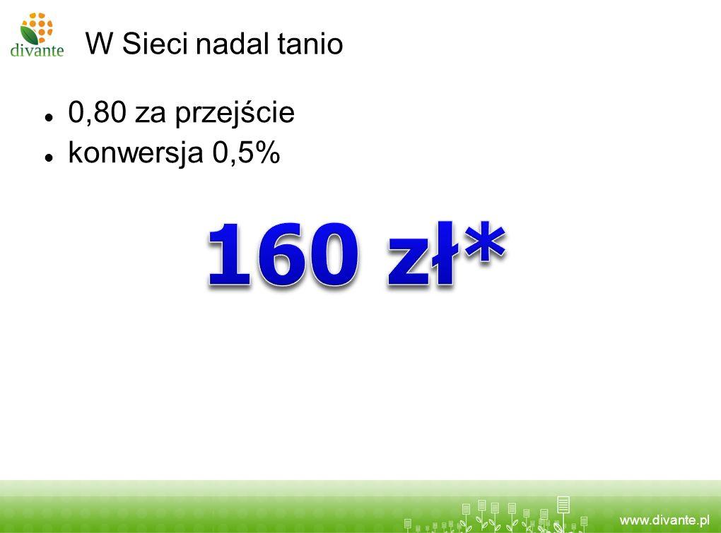 www.divante.pl W Sieci nadal tanio 0,80 za przejście konwersja 0,5%