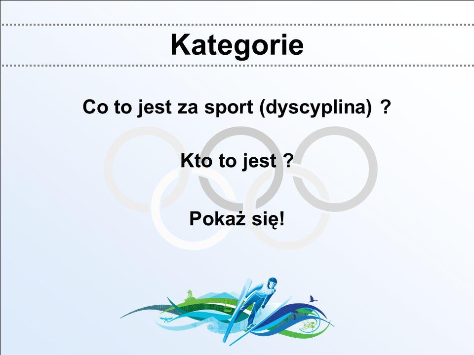 Kategorie Co to jest za sport (dyscyplina) ? Kto to jest ? Pokaż się!