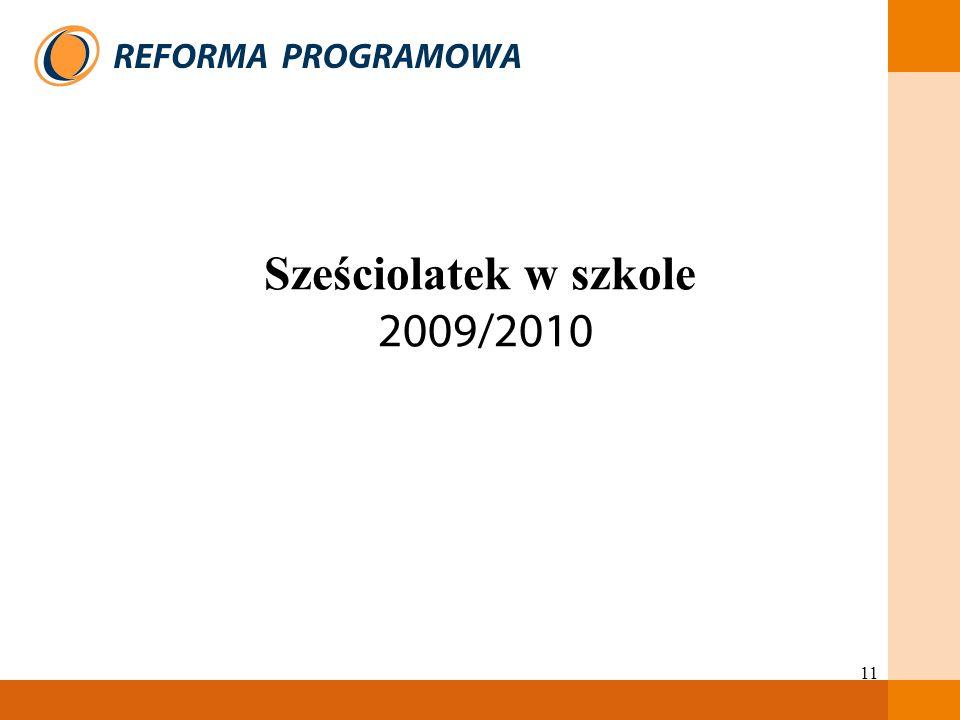 11 Sześciolatek w szkole 2009/2010