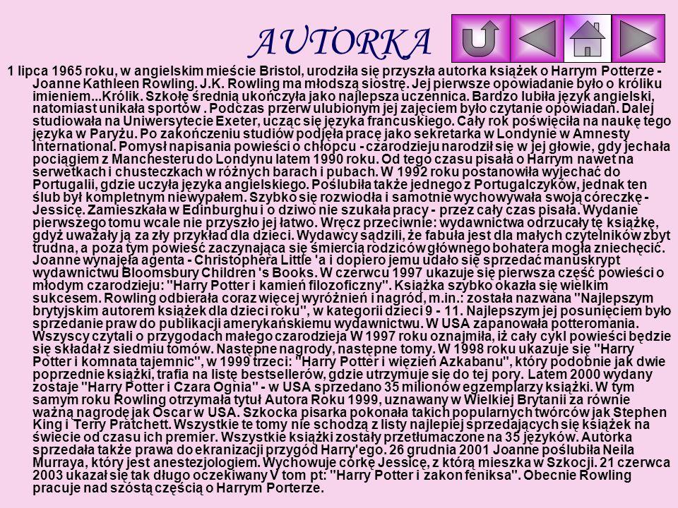 HARRY POTTER KSIĄŻKI Główni Aktorzy i postacie GALERIA AUTORKA