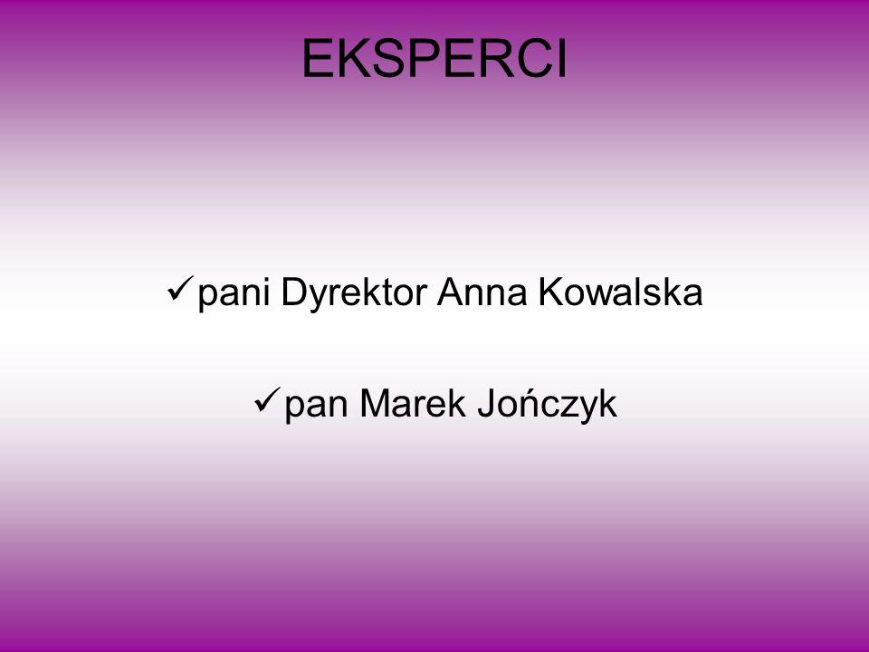 EKSPERCI pani Dyrektor Anna Kowalska pan Marek Jończyk