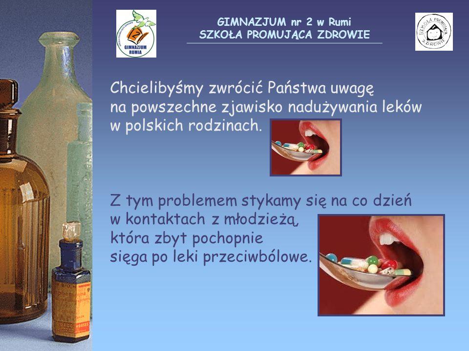 Chcielibyśmy zwrócić Państwa uwagę na powszechne zjawisko nadużywania leków w polskich rodzinach. Z tym problemem stykamy się na co dzień w kontaktach