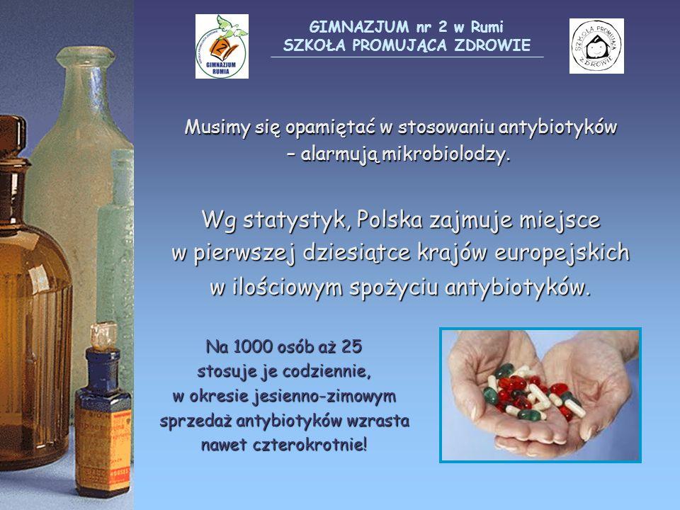 Musimy się opamiętać w stosowaniu antybiotyków – alarmują mikrobiolodzy. Wg statystyk, Polska zajmuje miejsce w pierwszej dziesiątce krajów europejski