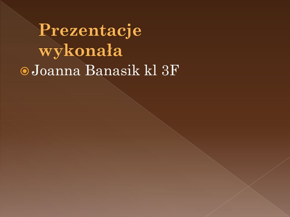Joanna Banasik kl 3F
