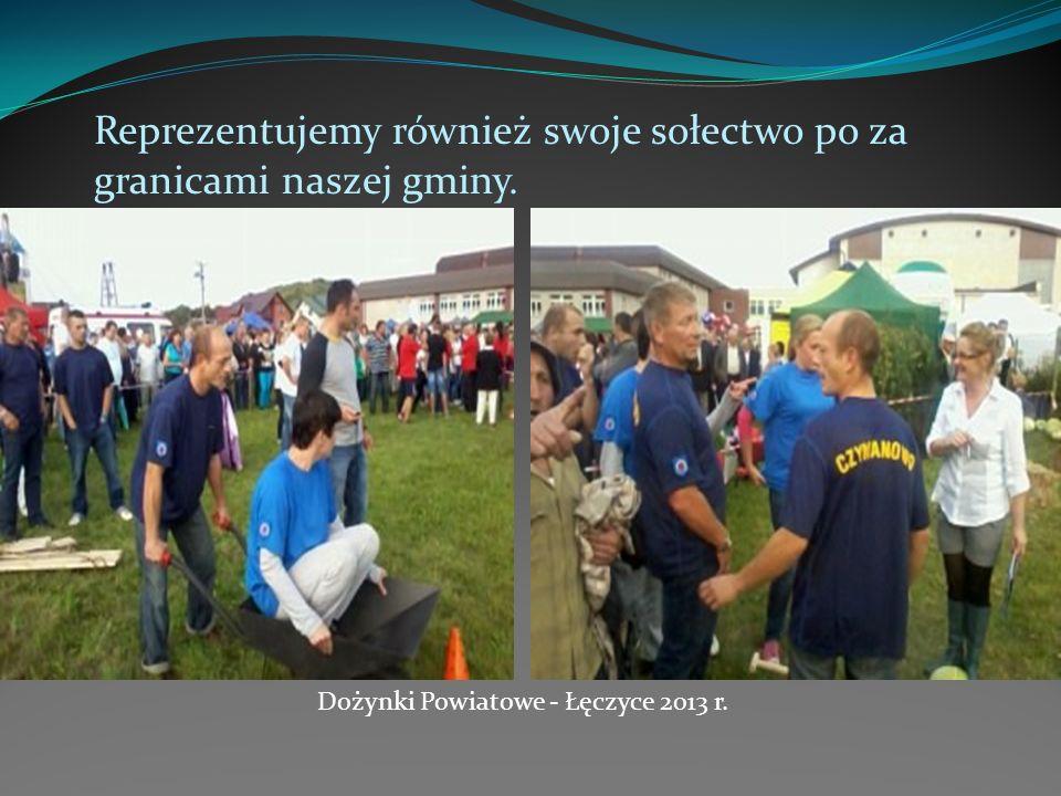 Reprezentujemy również swoje sołectwo po za granicami naszej gminy. Dożynki Powiatowe - Łęczyce 2013 r.
