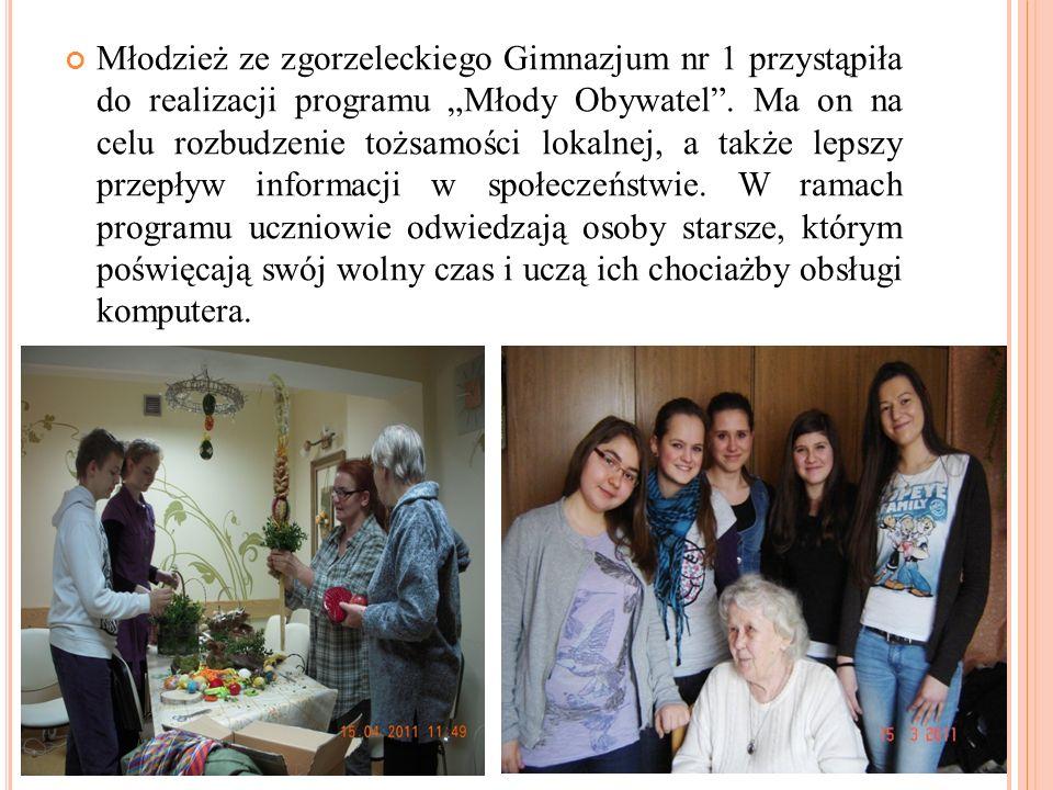 Młodzież ze zgorzeleckiego Gimnazjum nr 1 przystąpiła do realizacji programu Młody Obywatel.