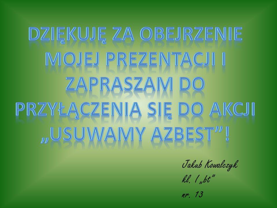 Jakub Kowalczyk kl. I bt nr. 13