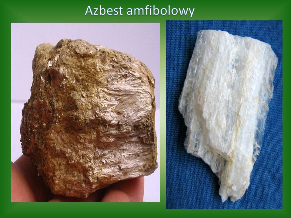 Z najlepszych gatunków azbestu robi się przędzę azbestową, używaną do produkcji sznurów, taśm, tkanin ognioochronnych i koców gaśniczych, odpornych na działanie temperatury od 250°C do 450°C.