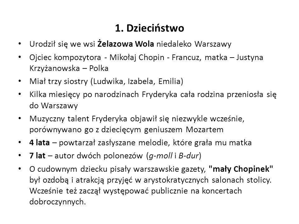 Pierwszych profesjonalnych lekcji gry na fortepianie udzielał mu Wojciech Żywny (ur.