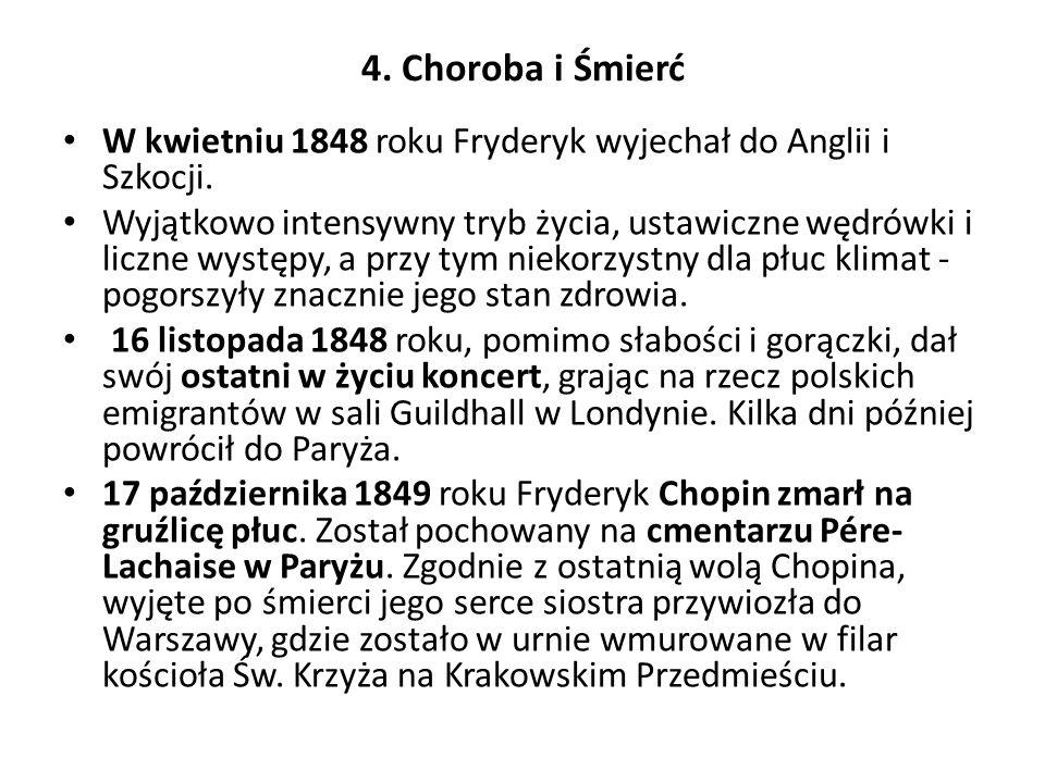 5. Dzieło Ballady, koncerty, etiudy, fantazje, mazurki, nokturny, pieśni, polonezy, sonaty, walce