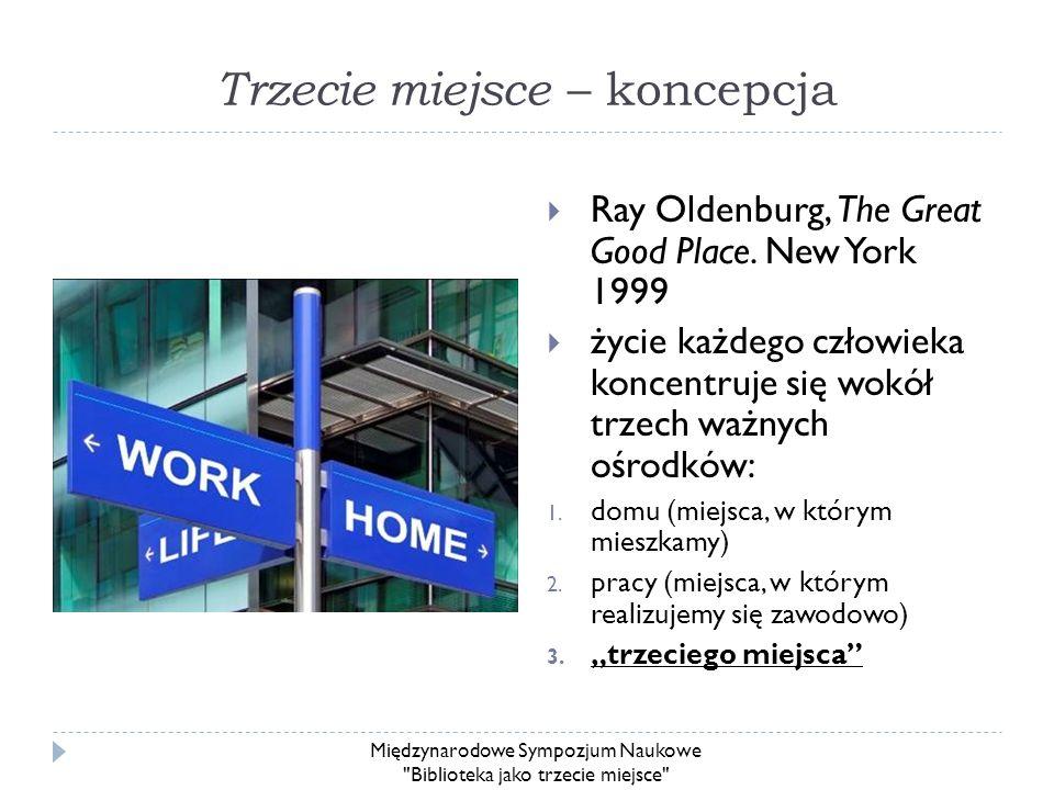 Trzecie miejsce – koncepcja Ray Oldenburg, The Great Good Place. New York 1999 życie każdego człowieka koncentruje się wokół trzech ważnych ośrodków: