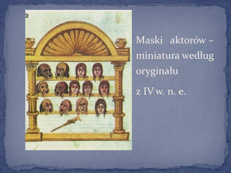 Maski aktorów – miniatura według oryginału z IV w. n. e.