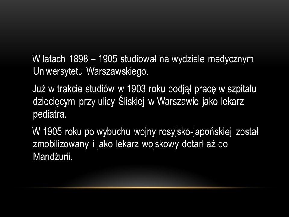 Po powrocie do Warszawy w 1906 roku podejmuje ponownie pracę w Szpitalu dla Dzieci przy ul.Śliskiej.