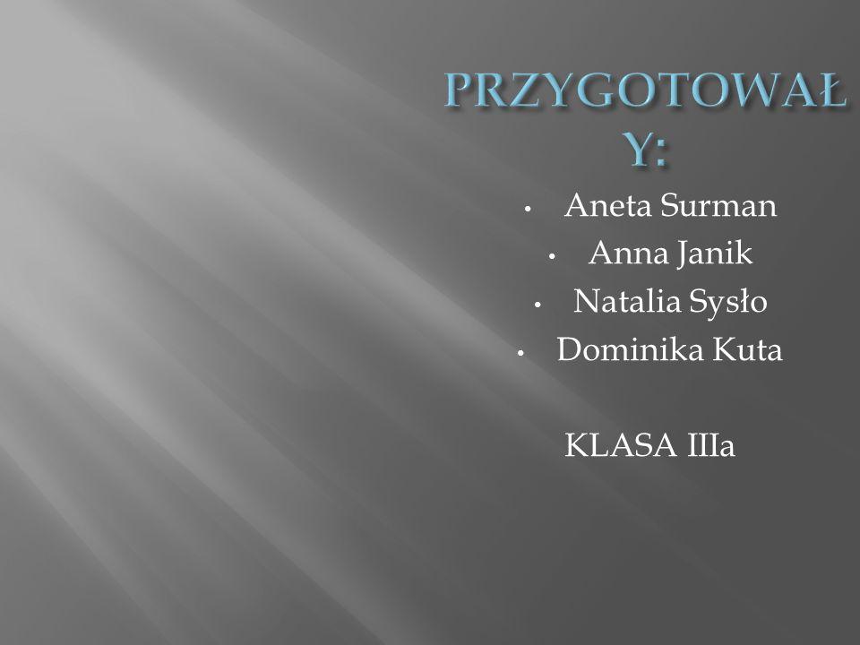 Aneta Surman Anna Janik Natalia Sysło Dominika Kuta KLASA IIIa