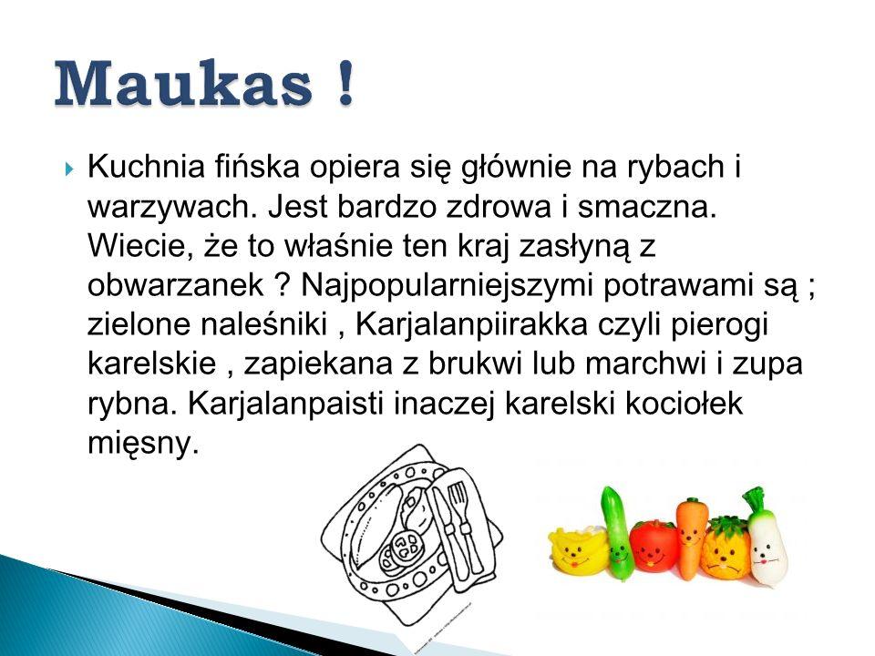 Kuchnia fińska opiera się głównie na rybach i warzywach. Jest bardzo zdrowa i smaczna. Wiecie, że to właśnie ten kraj zasłyną z obwarzanek ? Najpopula