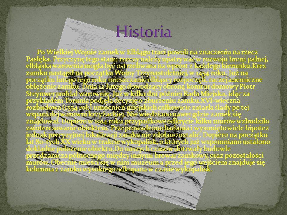 Po Wielkiej Wojnie zamek w Elblągu traci powoli na znaczeniu na rzecz Pasłęka.